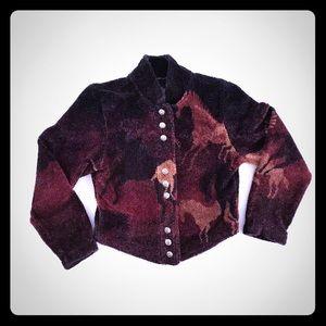 County clothing co primitive horses Jacket S